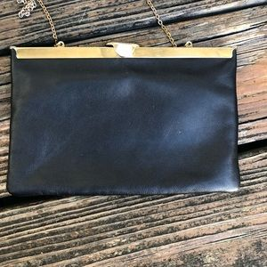 Vintage 70s 80s Leather Purse Handbag Etra Bag